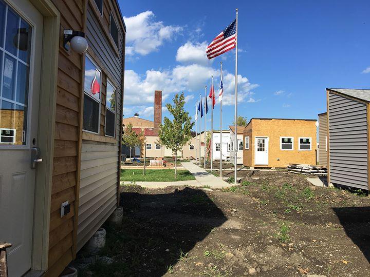 Tiny home veterans village