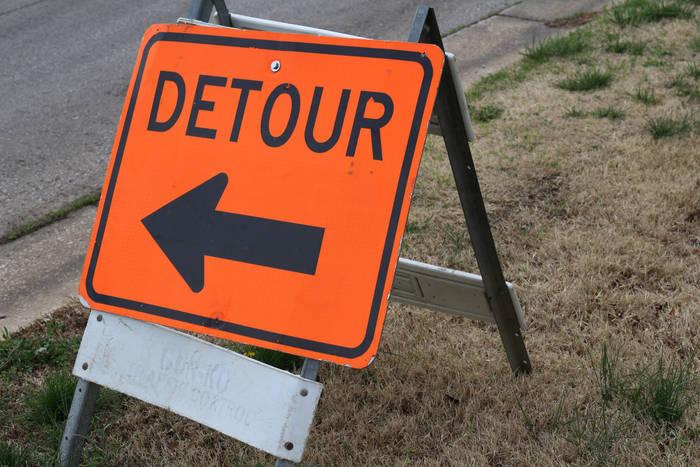 Highway U road construction Racine County