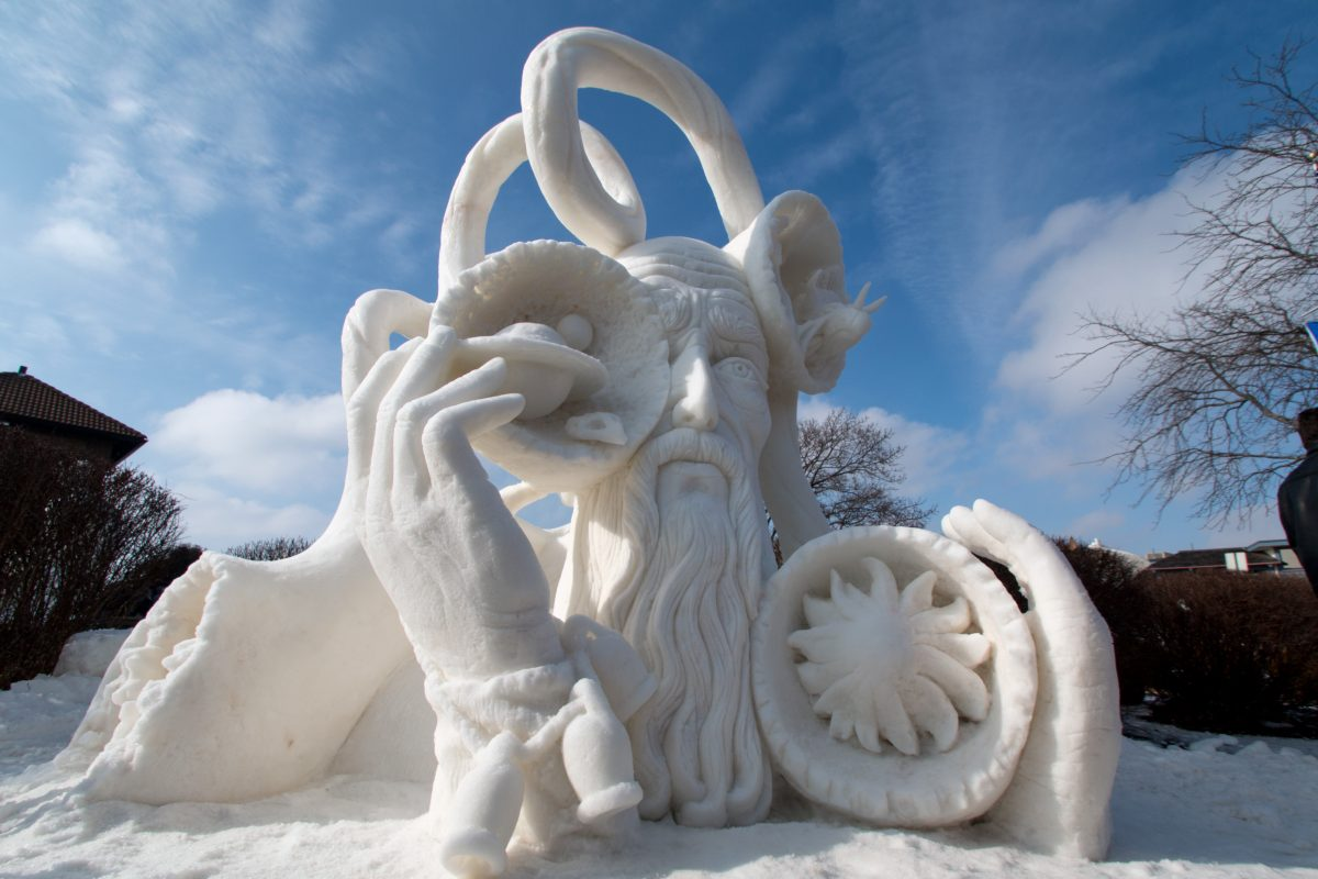 Winterfest and snow sculpting