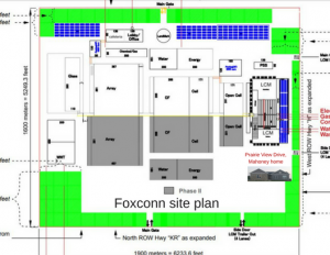 Foxconn infrastructure projects set to begin in January