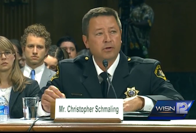 Racine County Sheriff Chris Schmaling testified in Washington, D.C. He advocated for stronger laws for background checks for online gun sales and unlicensed dealers.