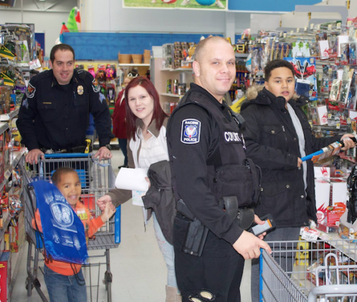 ... Racine Police Department , Racine Unified School District , Shop with